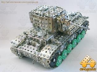 Танк КВ-1 из металлического конструктора Самоделкин